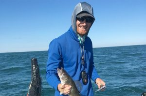 Ross with small walleye